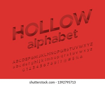 Vector of modern abstract hollow alphabet design