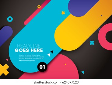 Vector of modern abstract layout and background