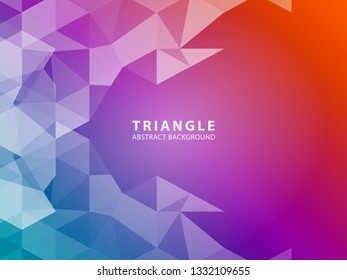 Vector of modern abstract triangular background - Vector