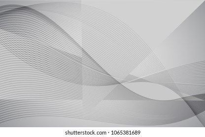 Vector modern abstract wave background with line design. White grey wallpaper for website, brochure, poster, flyer and magazine cover.