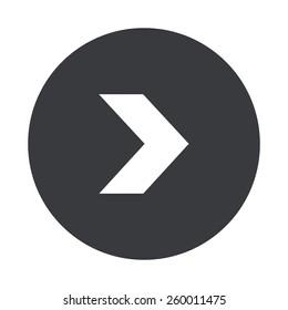 Vector modern arrow gray circle icon on white background