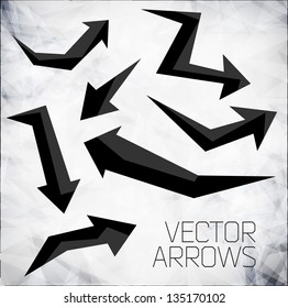 Vector modern arrows. Design modern template can be used for brochure, banners or website layout vector.