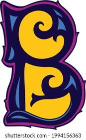 Vector modern b logo font