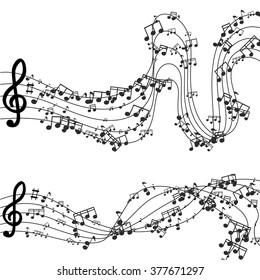 Vector modern black music background design. Eps10