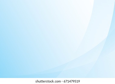 vector of  modern blue curve shape background