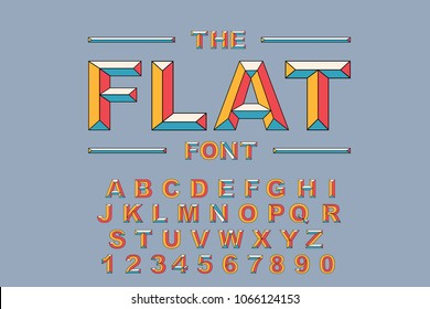 Vector of modern bold font and alphabet. Vintage Alphabet vector 80's, 90's Old style graphic set. Retro Chiseled Alphabet Vector Font. Type letters, numbers. Chiseled block letters
