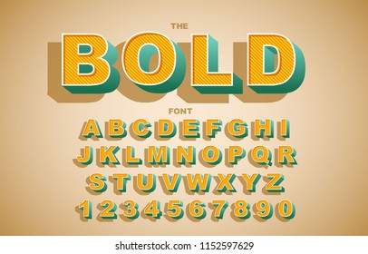 Vector of modern bold font and alphabet. Vintage Alphabet vector. Retro Chiseled Alphabet Vector Font. Type letters, numbers. Chiseled block letters