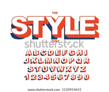 Vector Modern Bold Font Alphabet Vintage Stock Vector Royalty Free