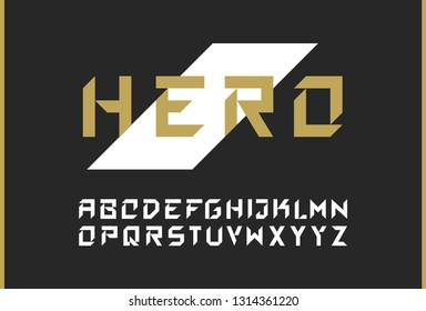 Vector modern bold font. Strong brutal alphabet lettering. Capital letters. Great font for headlines, labels, quotes, titles, posters or logotypes. Latin alphabet letters.