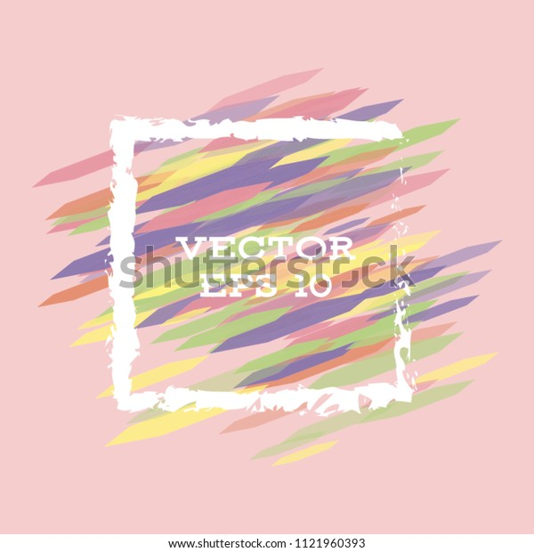 Vector modern bright frame for text. Dynamic stylish geometric frame. Element for the design of business cards, invitations, gift cards, leaflets, brochures, posters, discounts and sales.