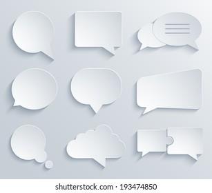 Vector modern bubble speech icons set. Eps 10