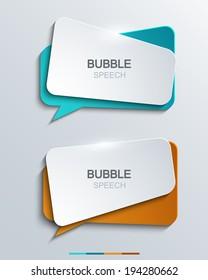 Vector modern bubble speech icons set. Business development,education.