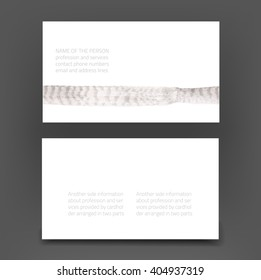 Vector modern business card - presentation of two sides back and front - with abstract art background in gray shades