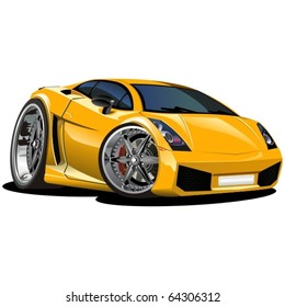 Vector modern cartoon car. See all serie in my portfolio