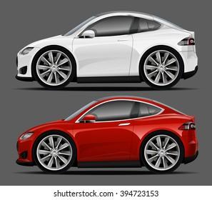 Vector modern cartoon car, sports car