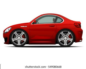 Vector modern cartoon car. sports car