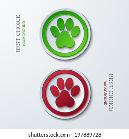 Vector modern circle icons on sample background. 2 variants. Eps10
