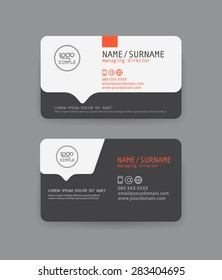 Vector modern clean business card template. Flat design