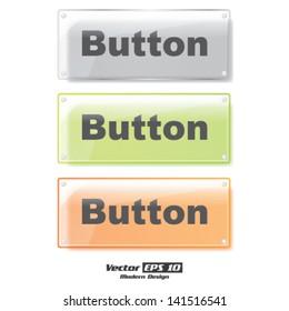 Vector modern color button set