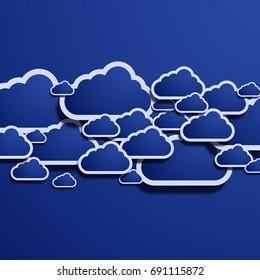 Vector modern computer cloud creative background