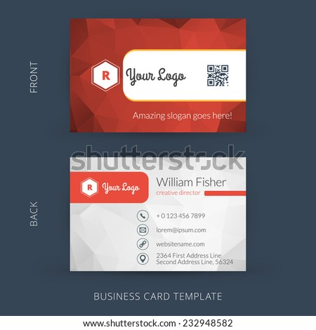 Vector modern creative business card template stock vector royalty vector modern creative business card template flat design eps 10 wajeb Image collections