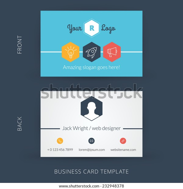 Vector Modern Creative Business Card Template Stock Vector