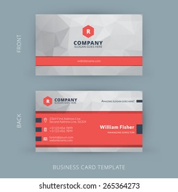 Business card design images stock photos vectors shutterstock vector modern creative and clean business card template flat design flashek Image collections