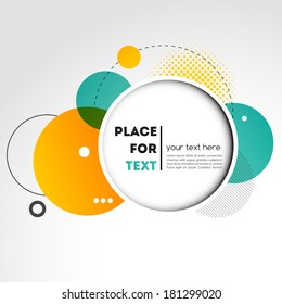 Vector Modern Design Circle template background
