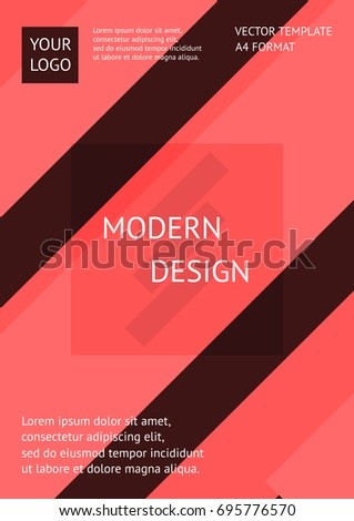 Vector modern design template. Abstract vector background. Use for poster, brochure, presentation, book cover and other. A4 Format.