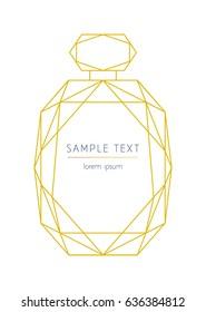 Vector modern design template for wedding or birthday invitation, brochure, poster or business card. Geometric perfume bottle