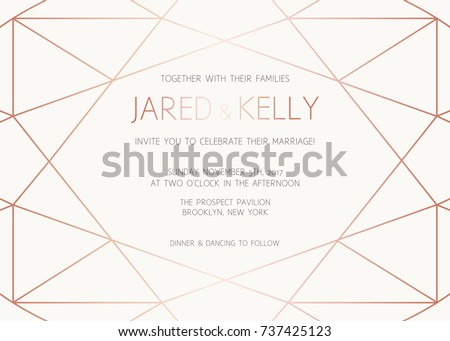 vector modern design template wedding invitation のベクター画像素材