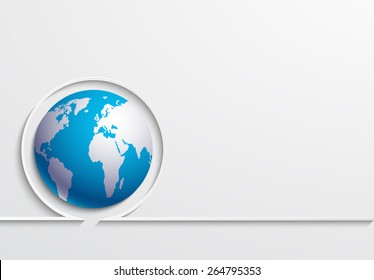 Vector modern earth day background. Eps 10