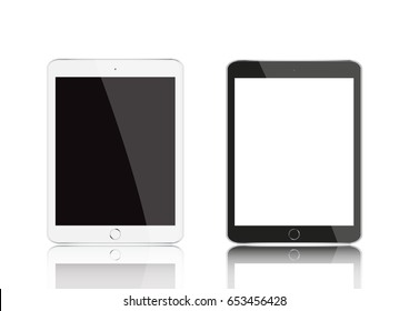 Vector modern electrical black and white tablet.