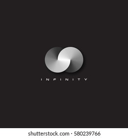 Vector modern and elegant infinity symbol illustration.