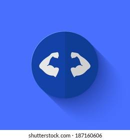 Vector modern flat blue circle icon. Eps10