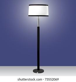 vector modern floor lamp