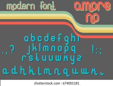 Vector Modern Font 1970s