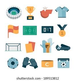 vector modern football icons