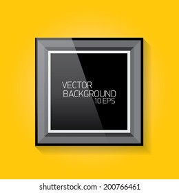 vector modern frame on the orange wall