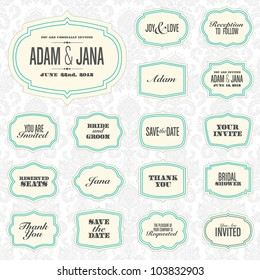 Vector Modern Frame Set. Easy to edit. Perfect for invitations or announcements.