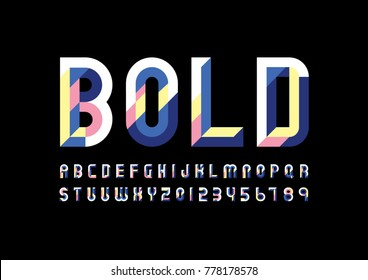 A Vector of modern geometric font and alphabet