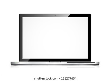 Vector modern laptop isolated on white