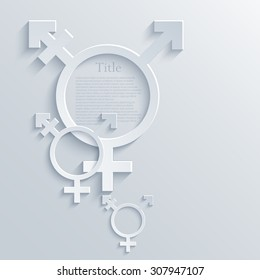 vector modern light transgender symbol background. eps10 illustration