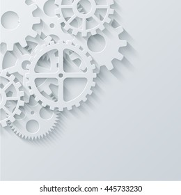 Vector modern mechanism industrial concept. Technology gears background. Eps10