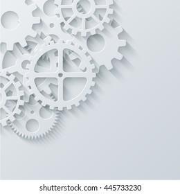 Vector modern mechanism industrial concept. Technology gears background. Eps10