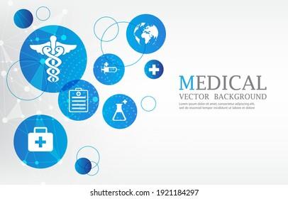 vector modern medical communication concept