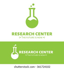 Vector modern minimalistic research center logo design. Science logotype