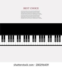 Vector modern piano background. Eps 10 illustration