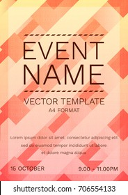 Vector Modern Poster Template for any Event. Party, Night Dance, Festival, Birthday. Vector Illustration with colorful background.