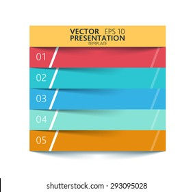 Vector modern presentation template - clean and colorful flat design style